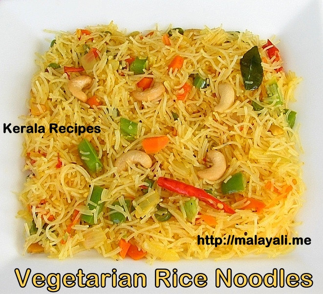 Vegetarian Rice Noodles Recipe  Rice Noodles with Ve ables – Kerala Recipes