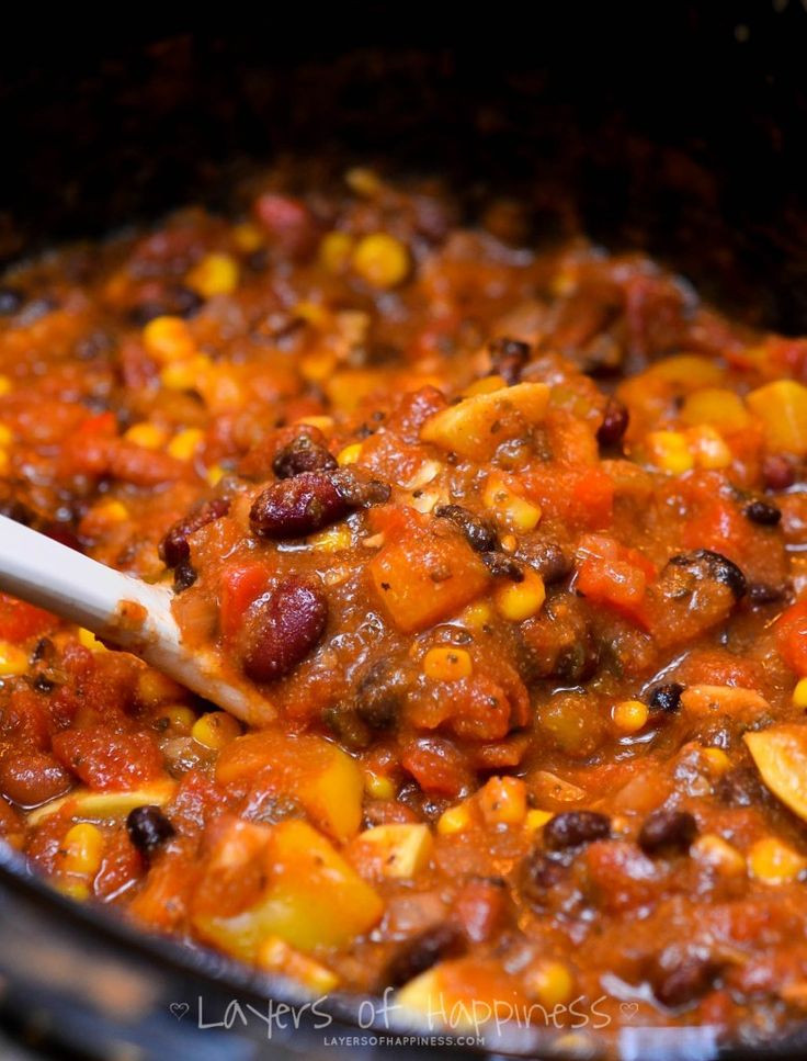 Vegetarian Slow Cooker Recipes  Easy Slow Cooker Ve arian Chili