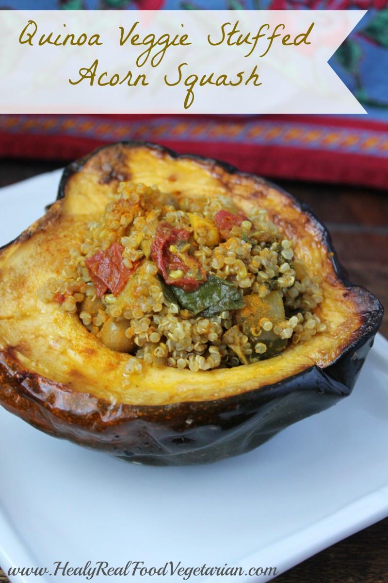 Vegetarian Stuffed Acorn Squash  Veggie Quinoa Stuffed Acorn Squash Recipe — Dishmaps
