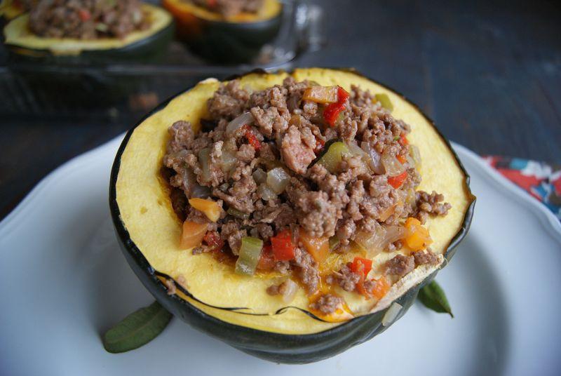 Vegetarian Stuffed Acorn Squash  ve able & beef stuffed acorn squash Rubies & Radishes