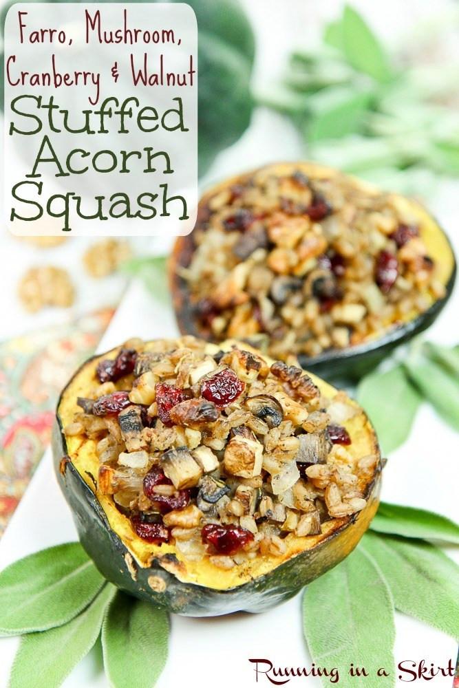 Vegetarian Stuffed Acorn Squash  Ve arian Stuffed Acorn Squash recipe
