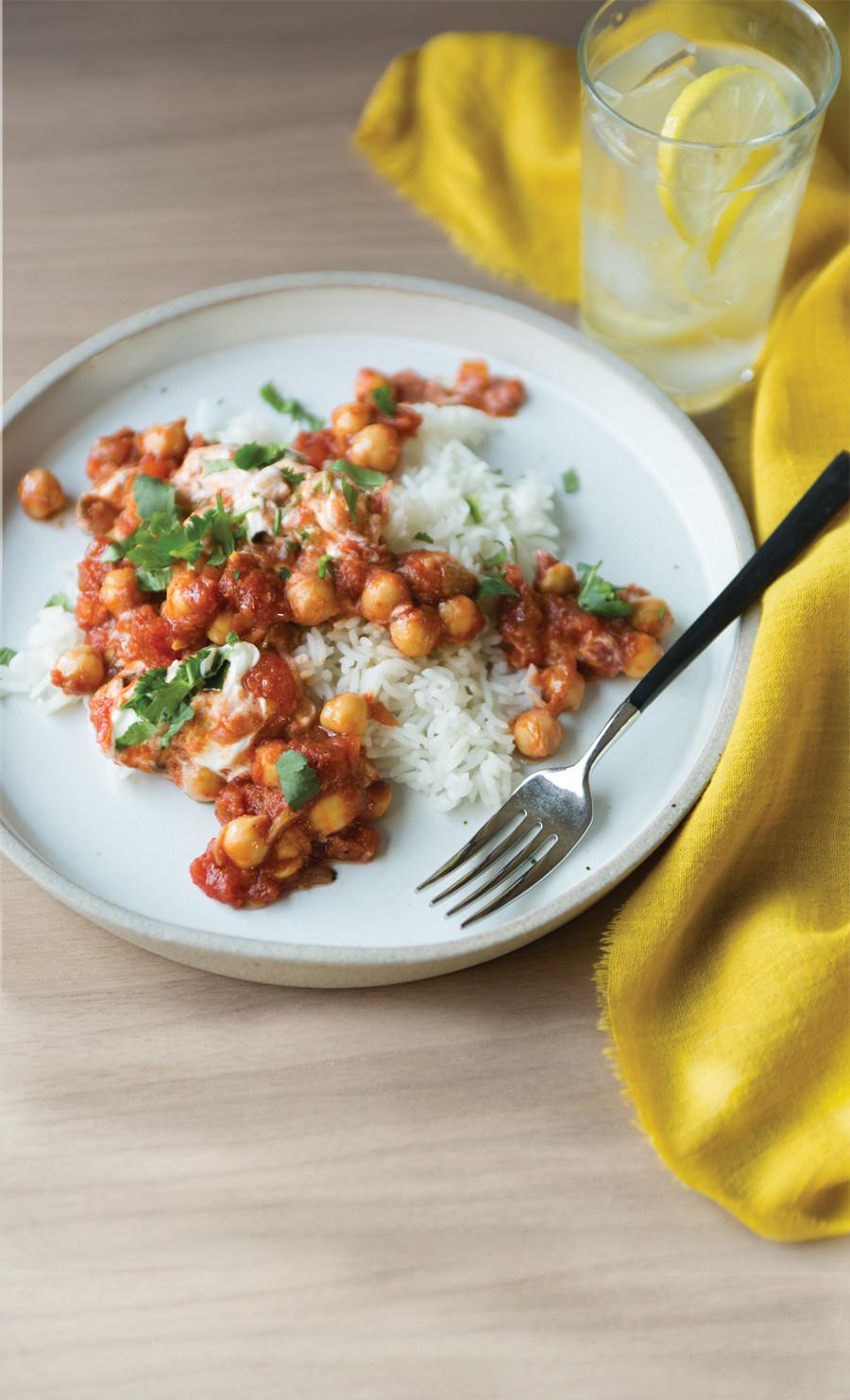 Vegetarian Times Recipes  Ve arian Chickpea Tikka Masala Recipe