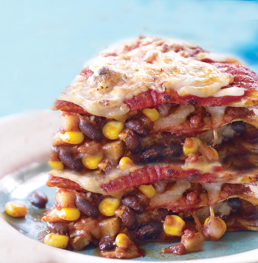 Vegetarian Times Recipes  Tortilla Lasagna Recipe