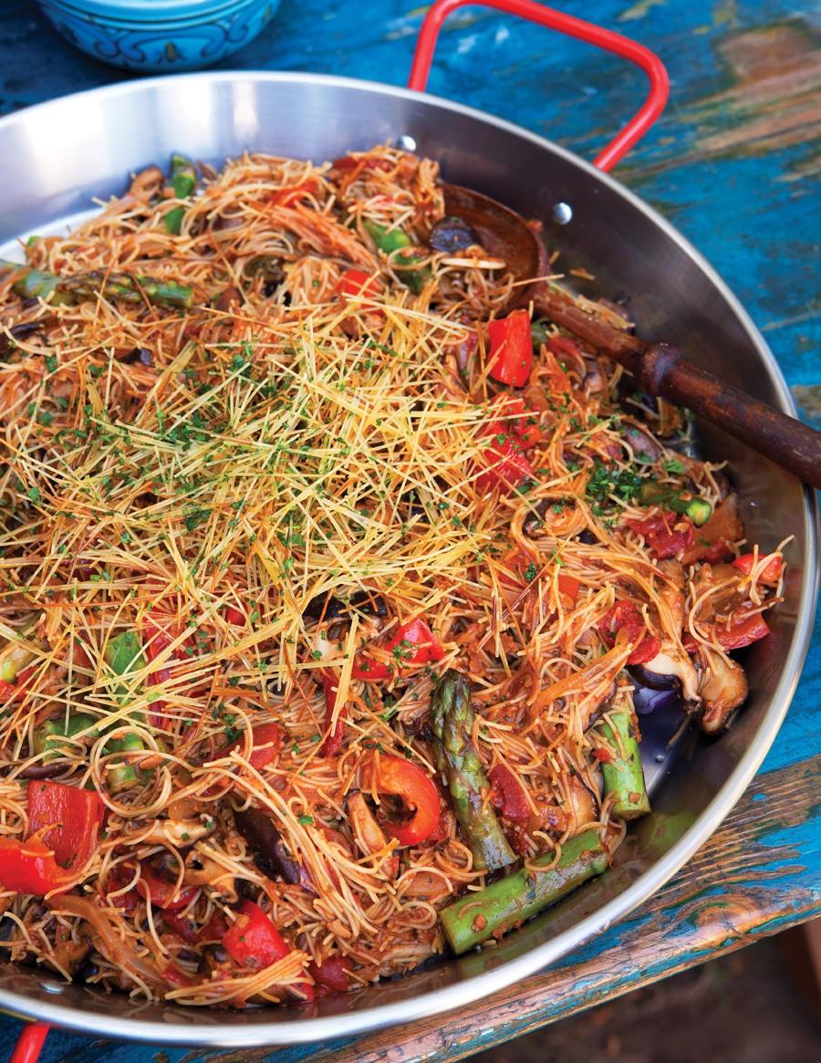 Vegetarian Times Recipes  Fideua Recipe