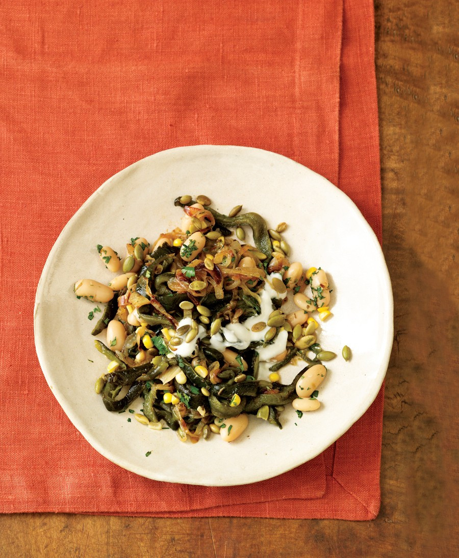 Vegetarian Times Recipes  Poblano White Chili Recipe