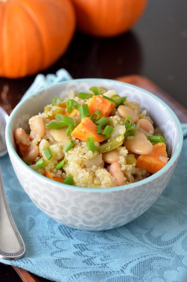 Vegetarian White Bean Chili  Vegan Quinoa and White Bean Chili