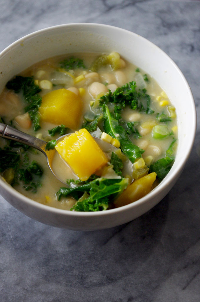 Vegetarian White Bean Chili  Easy Stovetop Ve arian White Bean Chili Recipe