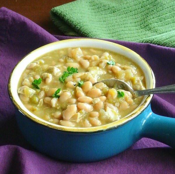 Vegetarian White Bean Chili  White Bean Chili from the Slow Cooker Recipe