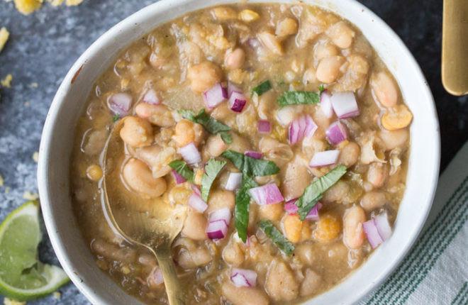 Vegetarian White Bean Chili  20 Minute Ve arian White Bean Chili Kitchen Treaty
