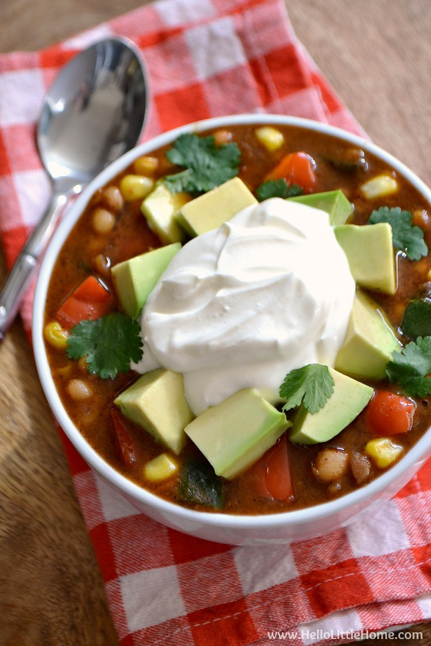 Vegetarian White Bean Chili  Ve arian White Bean Chili