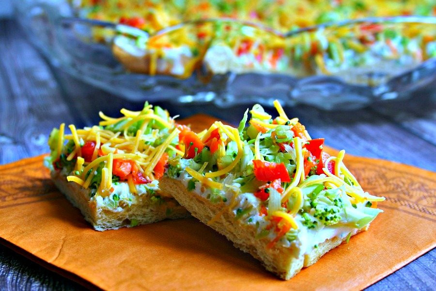 Veggie Pizza Recipe  Cool Veggie Pizza Appetizer Life Love and Good Food
