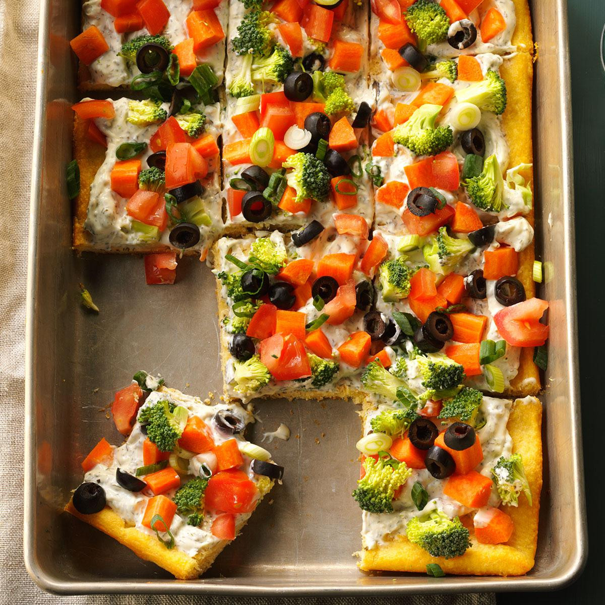 Veggie Pizza Recipe  Dilly Veggie Pizza Recipe