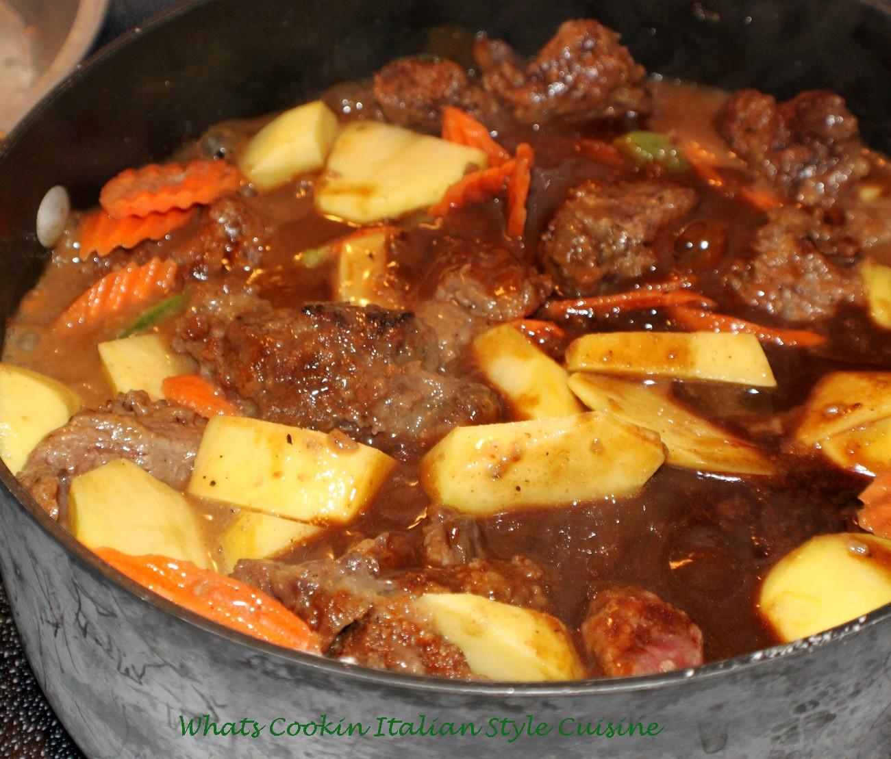 Venison Stew Recipe  What s Cookin Italian Style Cuisine Old Fashion Venison