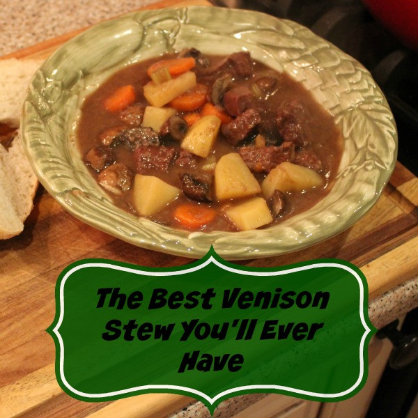 Venison Stew Recipe  The Best Venison Stew You ll Ever Have The Backyard Pioneer