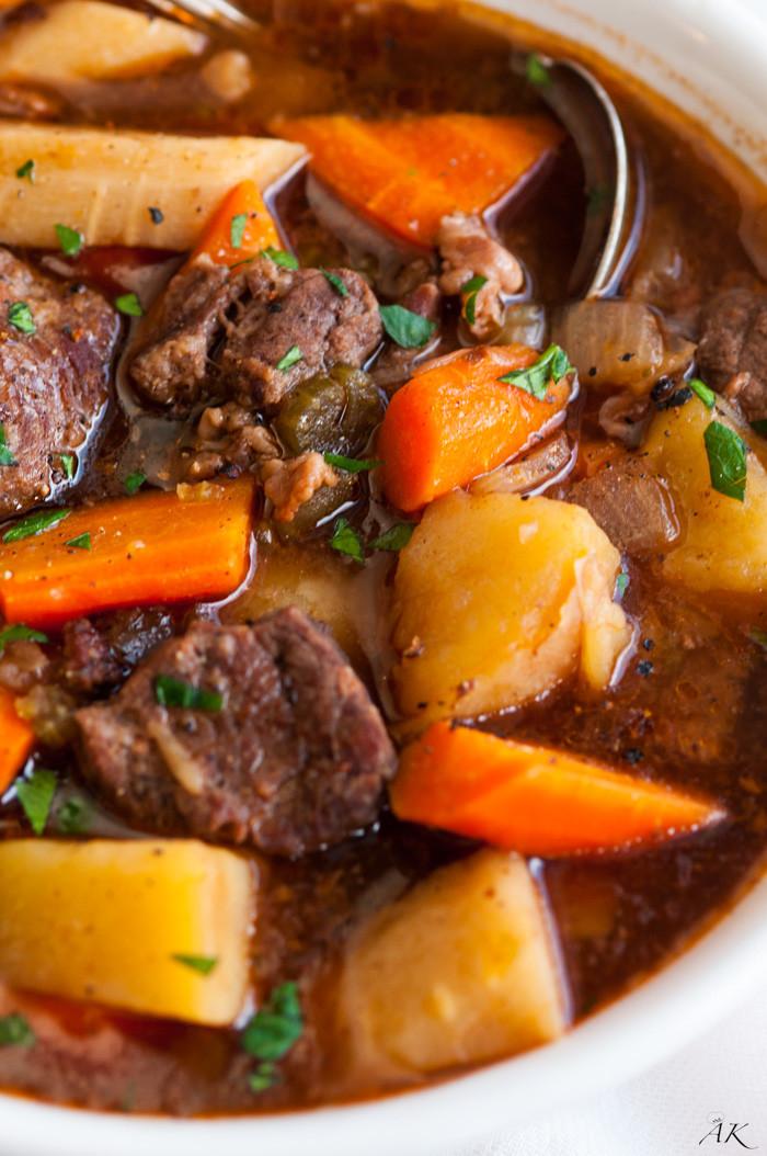 Venison Stew Slow Cooker  Slow Cooker Guinness Beef Stew Aberdeen s Kitchen