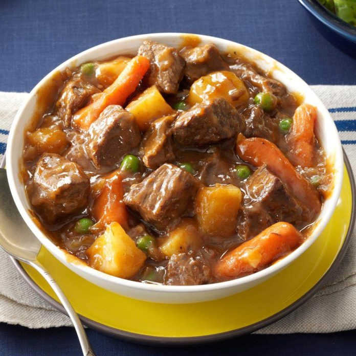 Venison Stew Slow Cooker  Slow Cooker Beef Ve able Stew Recipe