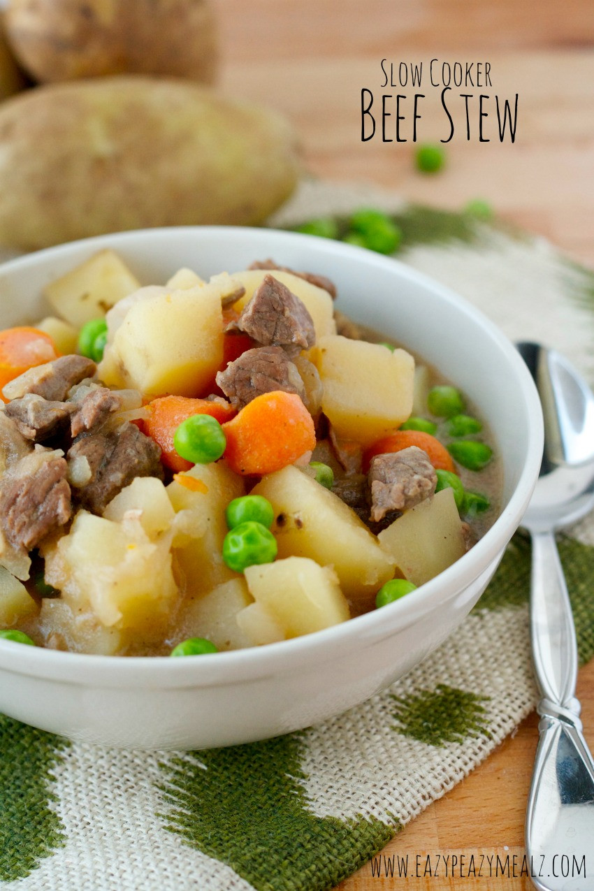 Venison Stew Slow Cooker  Easy Slow Cooker Beef Stew Eazy Peazy Mealz