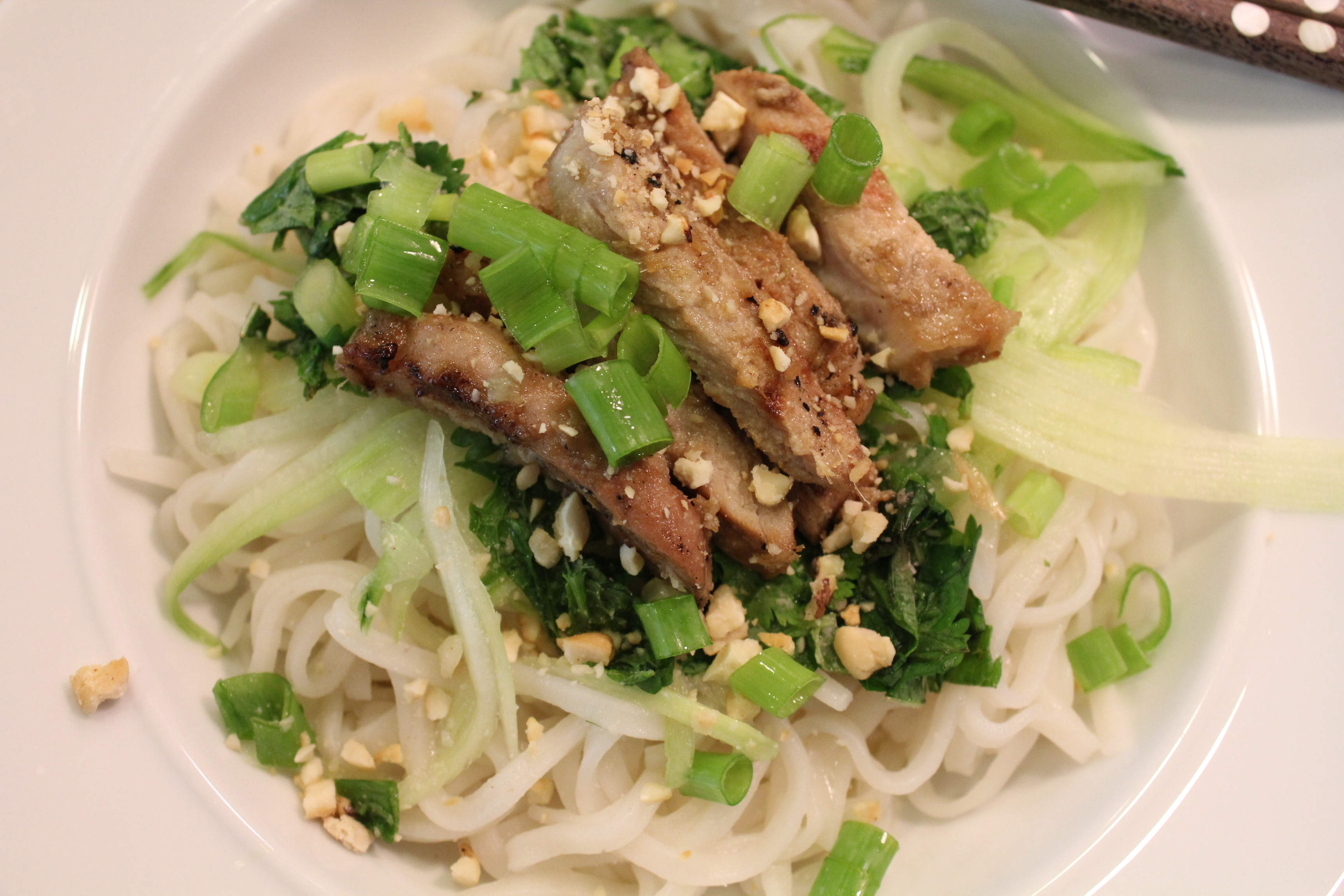 Vermicelli Rice Noodles  Lemongrass Barbecued Pork with Brown Rice Vermicelli