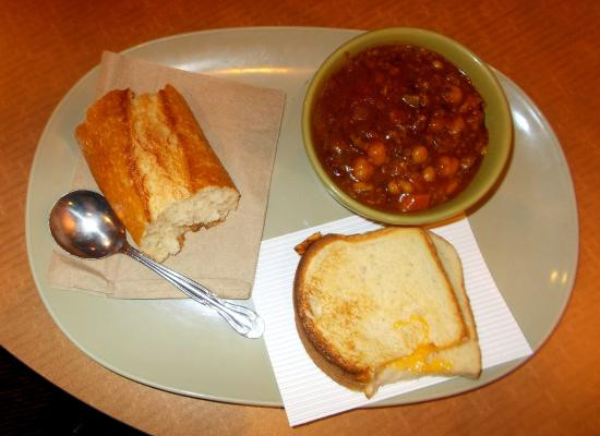 Virginia Bread And Breakfast  Turkey chili and grilled cheese sandwich 11 29 15