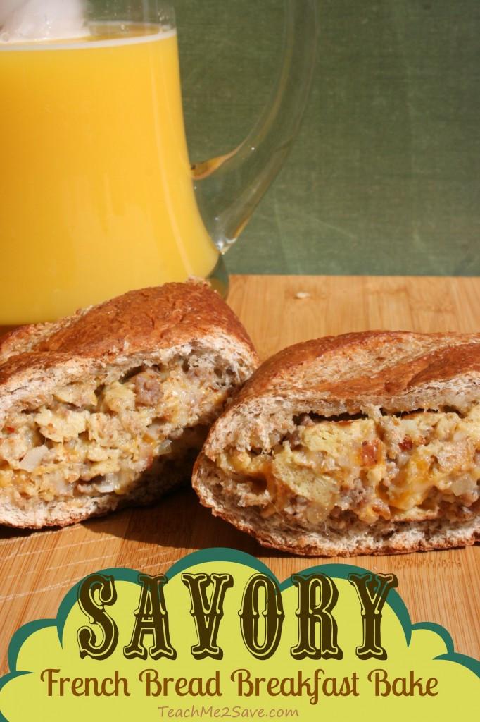 Virginia Bread And Breakfast  Savory French Bread Breakfast Bake Recipe Funtastic Life