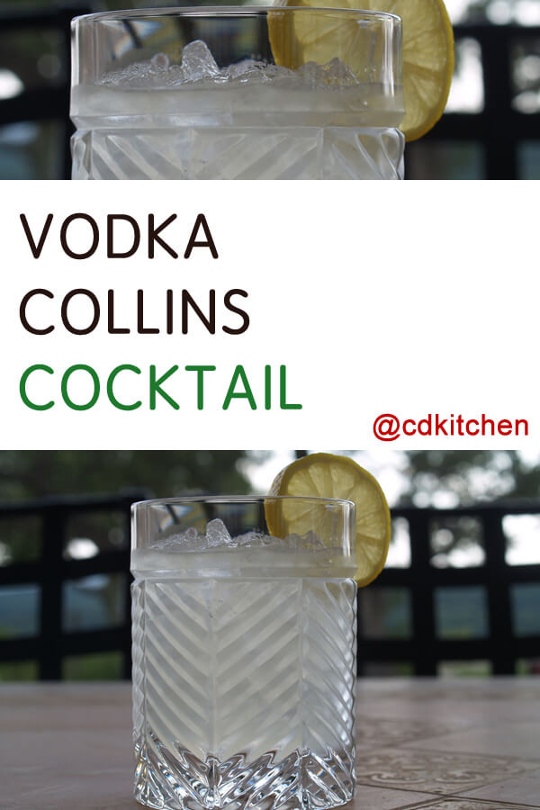 Vodka Collins Drinks  Vodka Collins Cocktail Recipe from CDKitchen