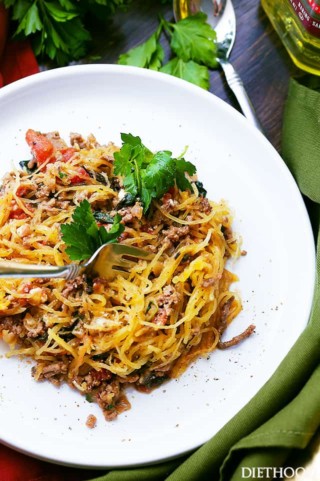 Vons Thanksgiving Dinner 2016  Mediterranean Spaghetti Squash Boats Recipe