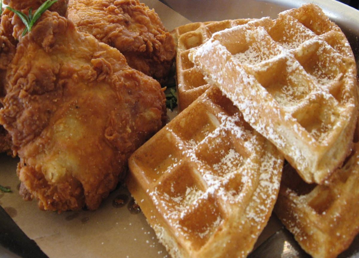 Waffles And Chicken  Chicken & Waffle Showdown Gladys Knight's ATL vs