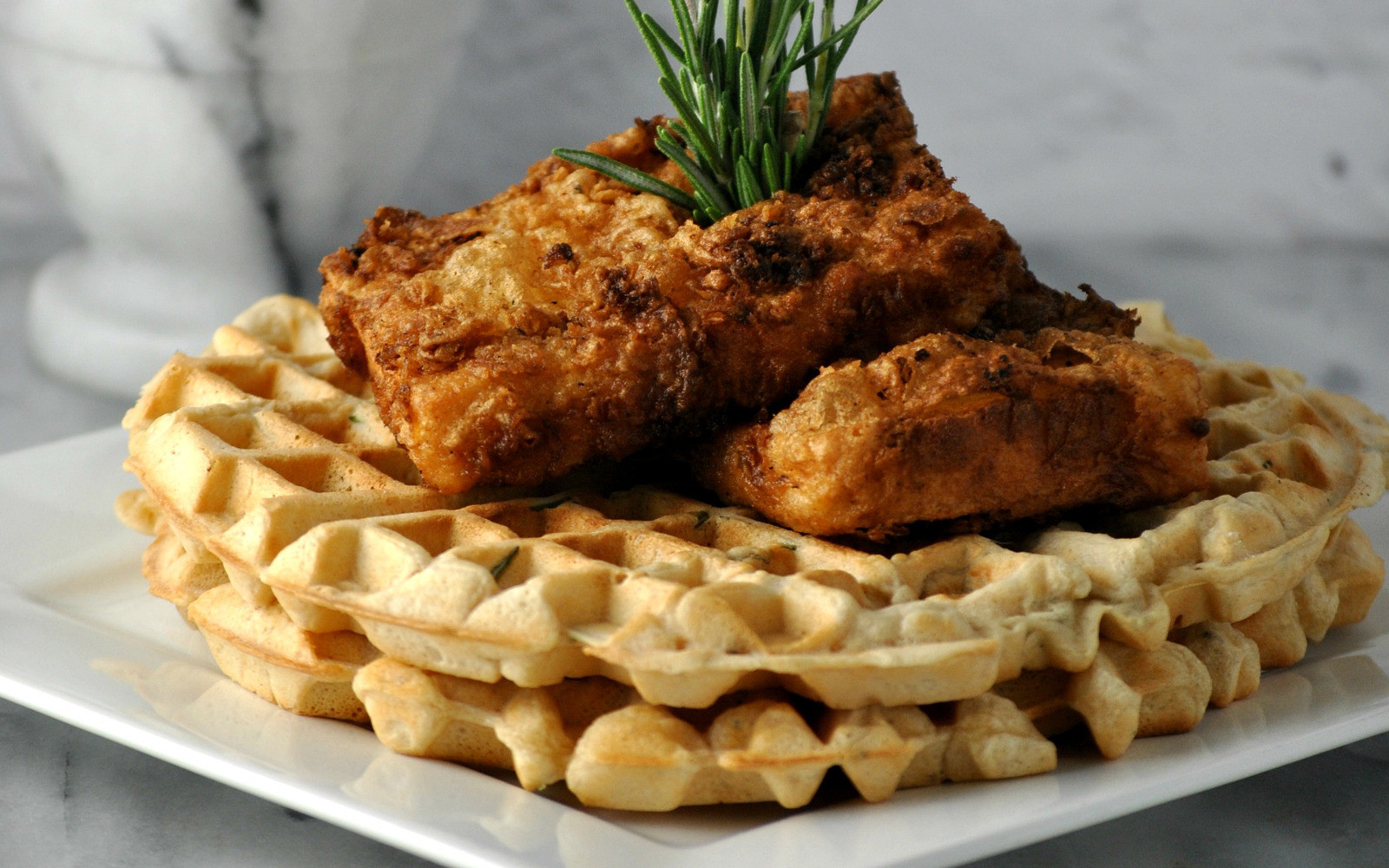 Waffles And Chicken  Chicken and Waffles [Vegan]