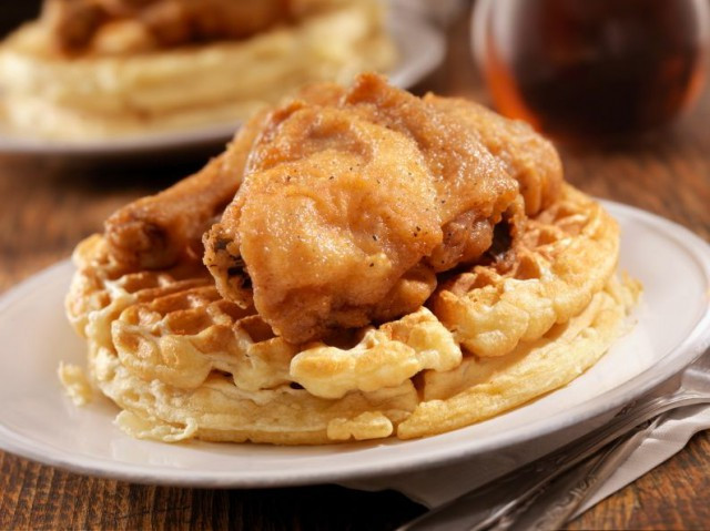 Waffles And Chicken  The History of Chicken and Waffles From Me val Times