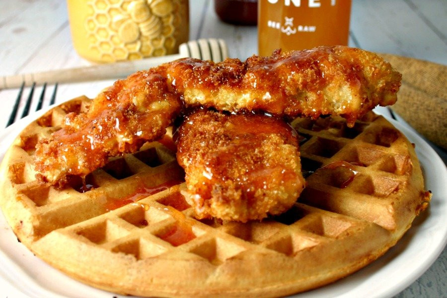 Waffles And Chicken  Hot Honey Chicken and Waffles Life Love and Good Food