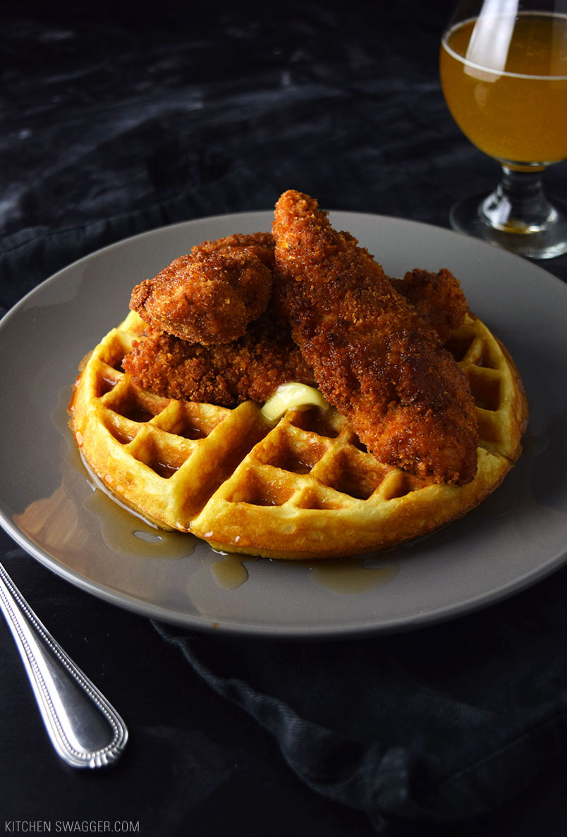 Waffles And Chicken  Spicy Fried Chicken and Waffles Recipe