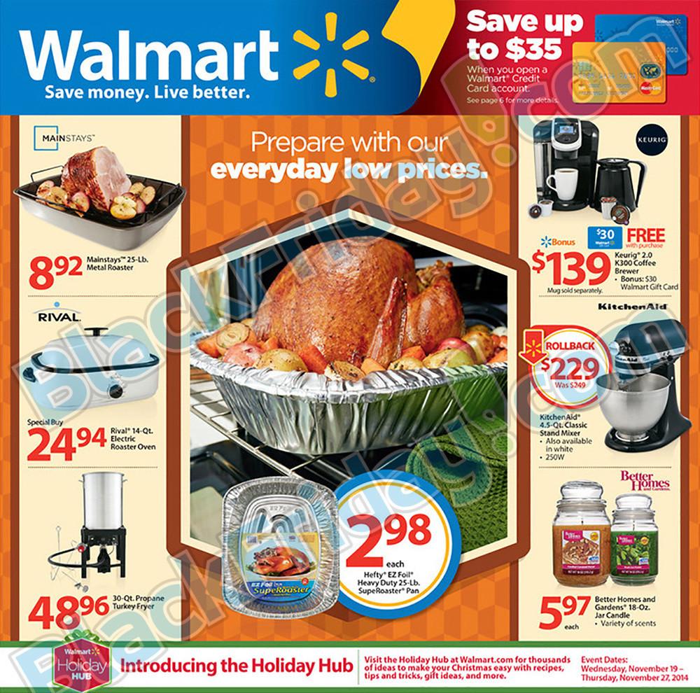 Walmart Thanksgiving Dinner  Walmart Thanksgiving Ad