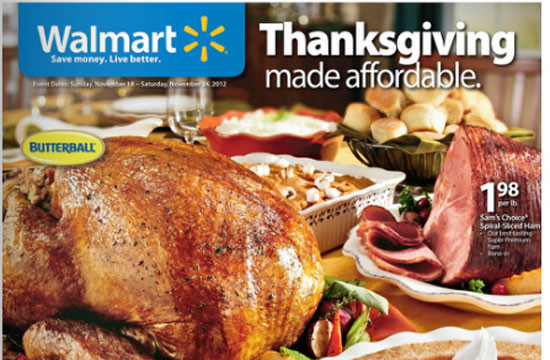 Walmart Thanksgiving Dinner  Wal Mart Holds Thanksgiving Food Drive for Own Employees