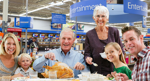 Walmart Thanksgiving Dinner  NOW YOU CAN EAT THANKSGIVING DINNER AT WALMART