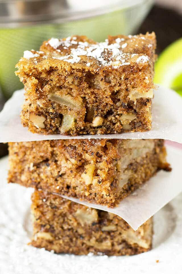 Walnut Cake Recipe  fresh apple walnut cake