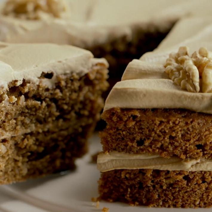 Walnut Cake Recipe  Coffee and Walnut Sponge Cake Recipes