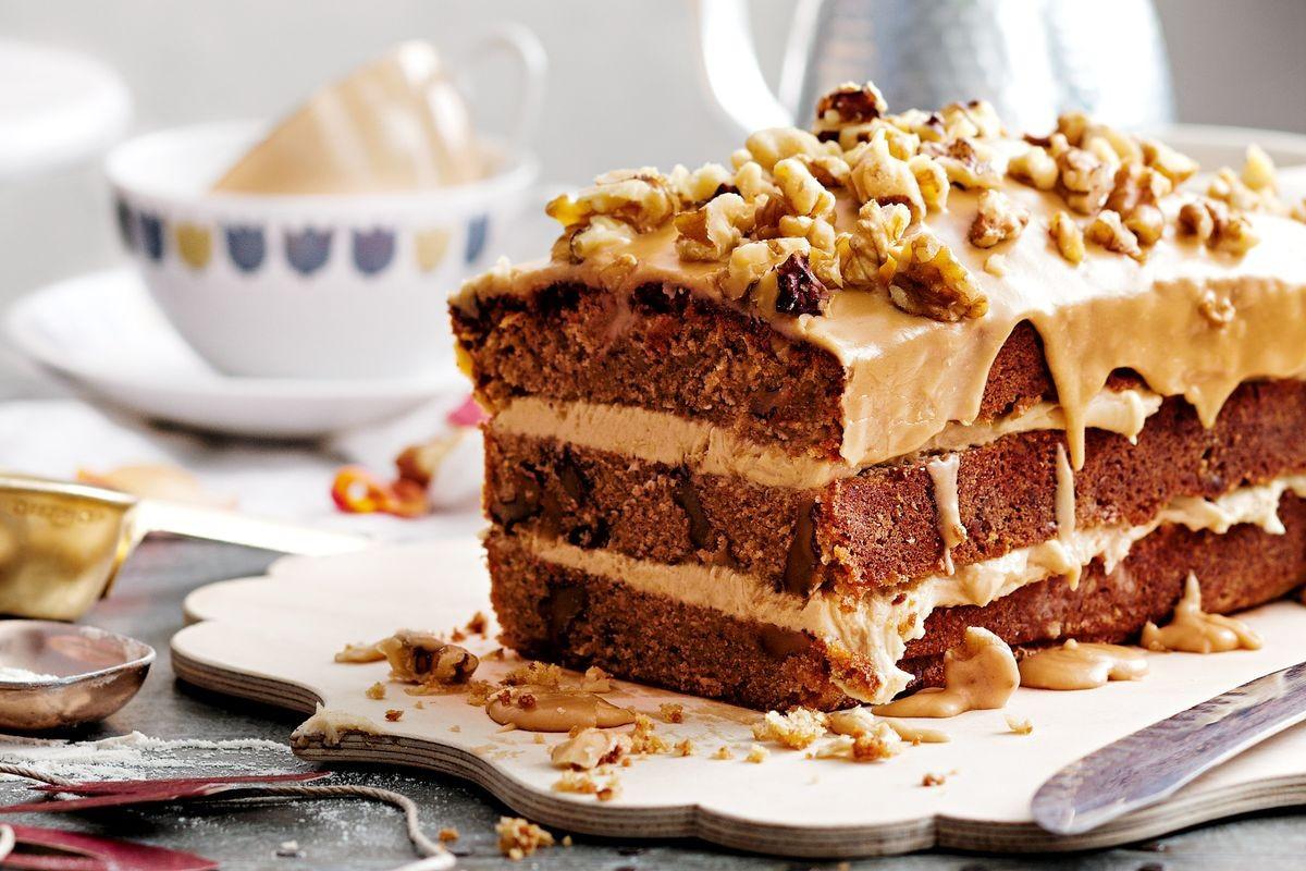 Walnut Cake Recipe  Coffee and walnut cake Recipes delicious