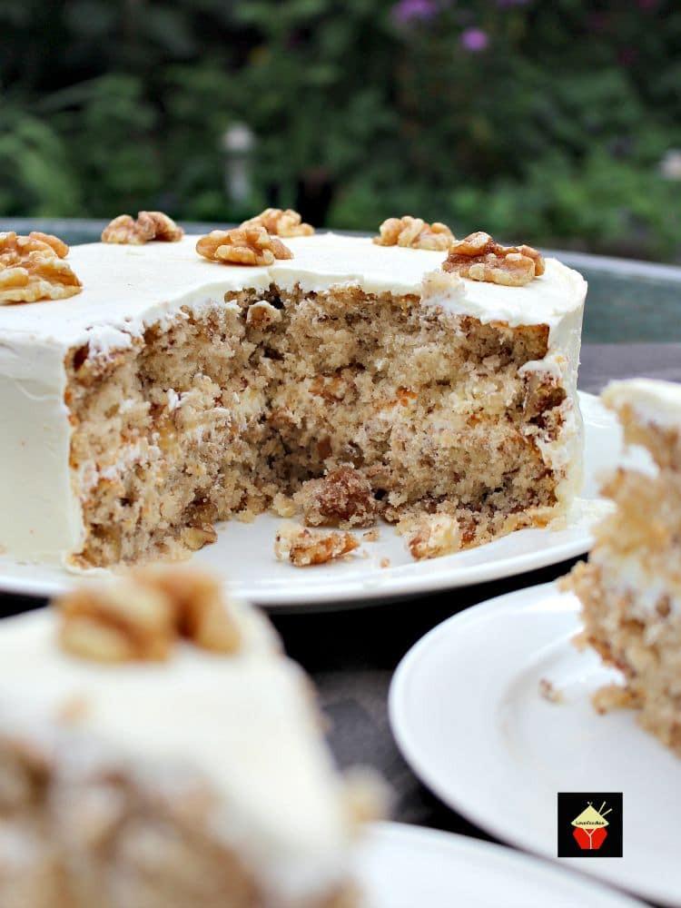 Walnut Cake Recipe  Walnut Cake is a delicious easy recipe The cake is so