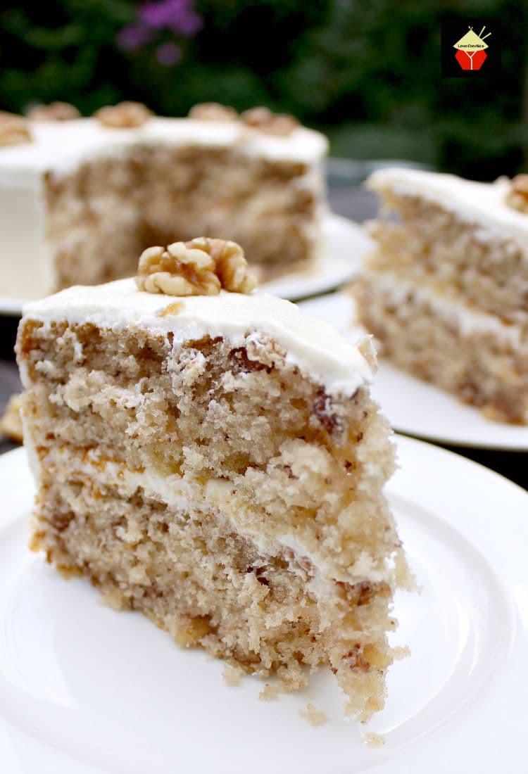 Walnut Cake Recipe  Walnut Cake – Lovefoo s