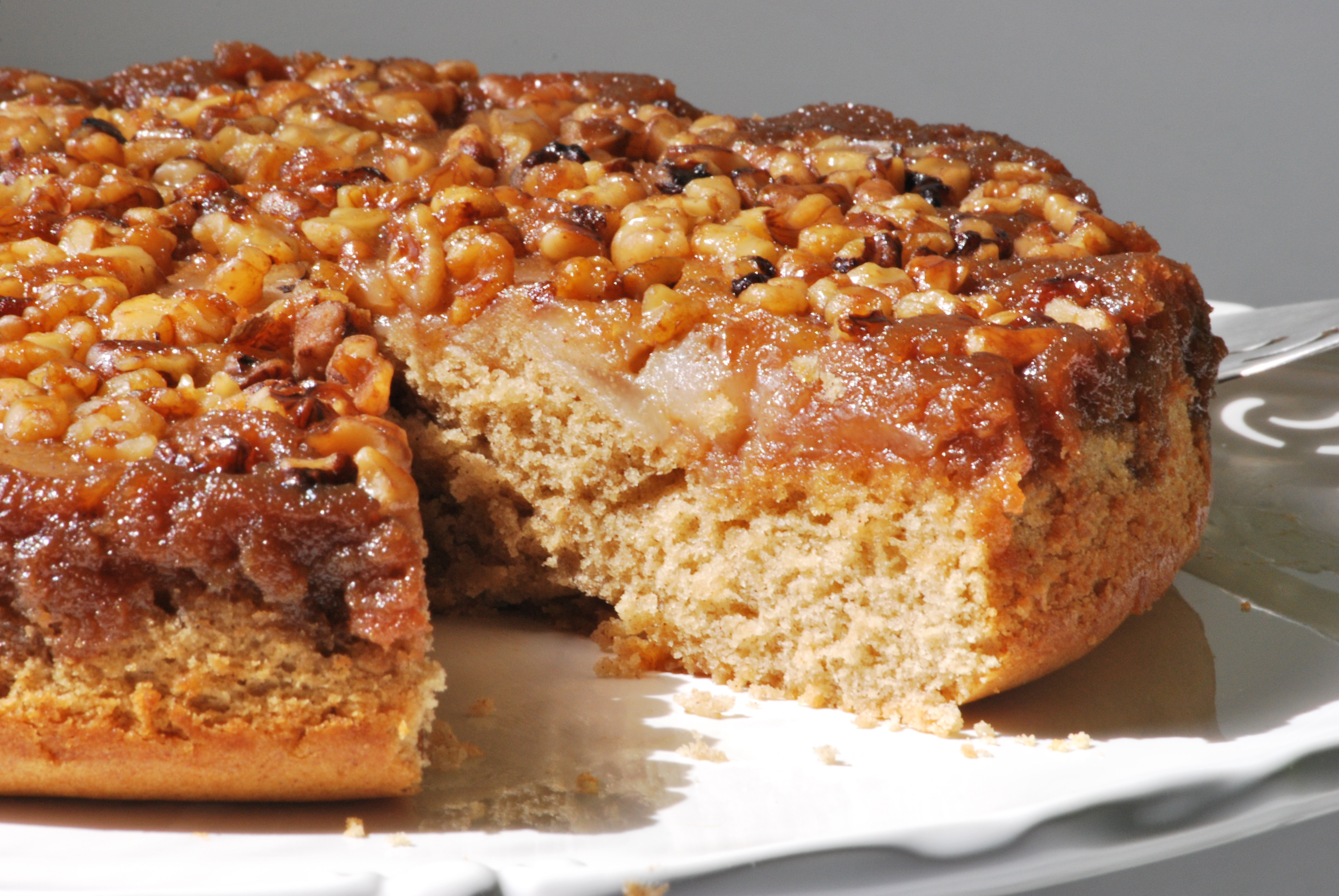 Walnut Cake Recipe  Maple Walnut Pear Cake