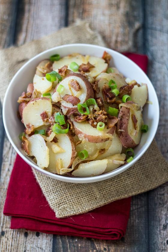 Warm German Potato Salad  Warm German Potato Salad The Wanderlust Kitchen