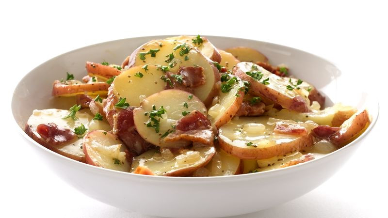 Warm German Potato Salad  Skinny Hot German Potato Salad Recipe BettyCrocker