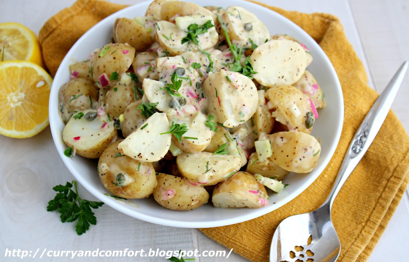 Warm Potato Salad  Kitchen Simmer Lemon and Chive Warm Potato Salad