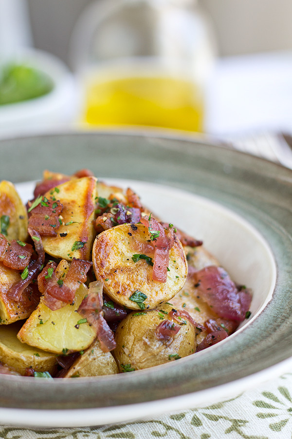 Warm Potato Salad  Roasted Potato Salad with Bacon Caramelized ions and