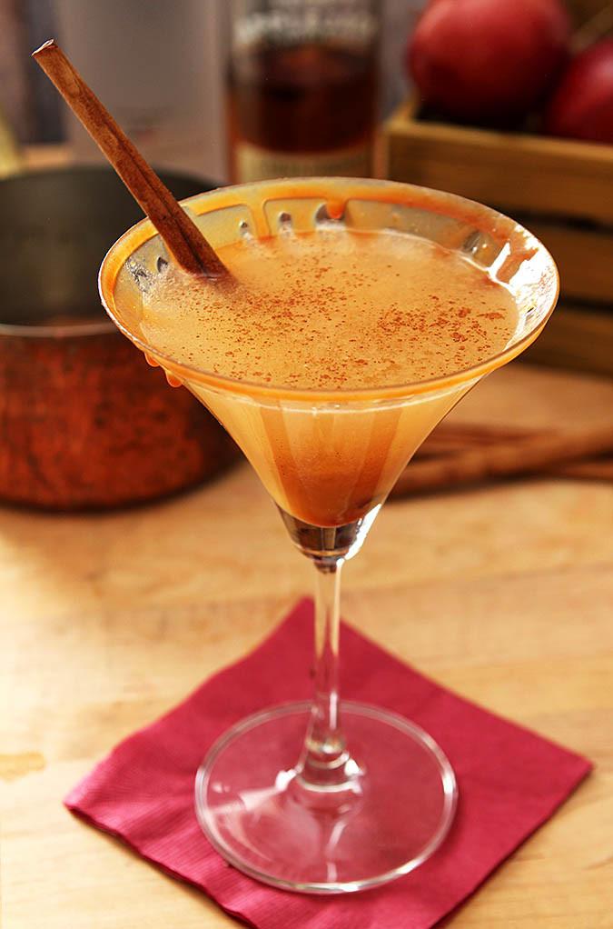 Warm Vodka Drinks  Warm Caramel Apple Cider Martini Cocktail