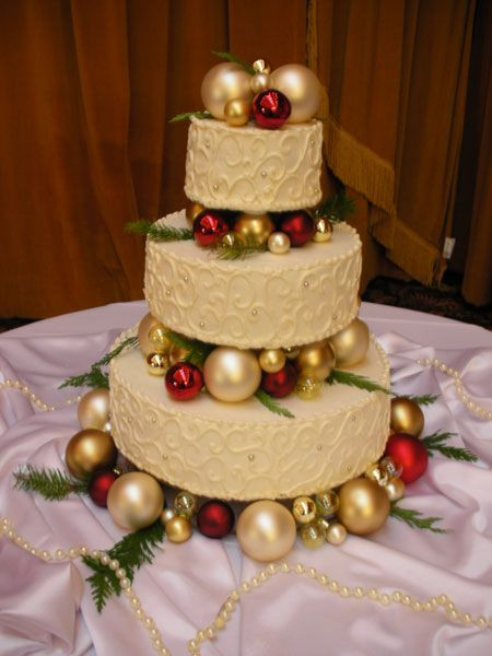 Wedding Cakes Ornaments  Winter Wedding Cakes Inspiration
