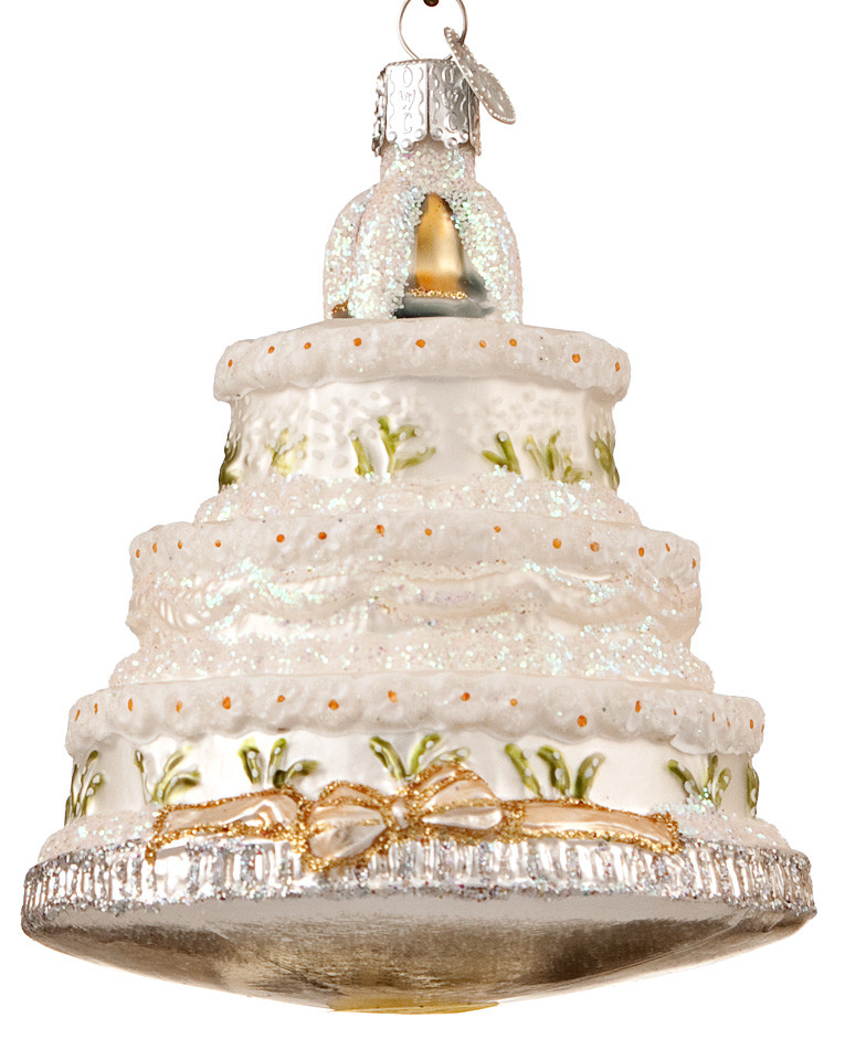 Wedding Cakes Ornaments  Personalized Wedding Christmas Ornaments