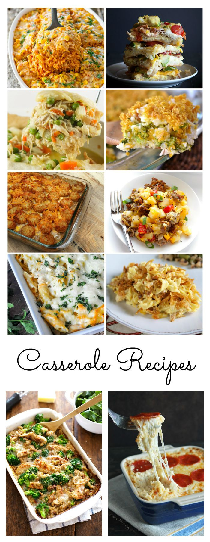 Weekday Dinner Ideas  Casserole Recipes The Idea Room