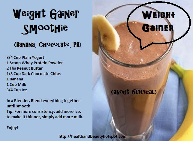 Weight Gain Smoothies  Homemade Weight Gain Smoothies – Homemade Ftempo