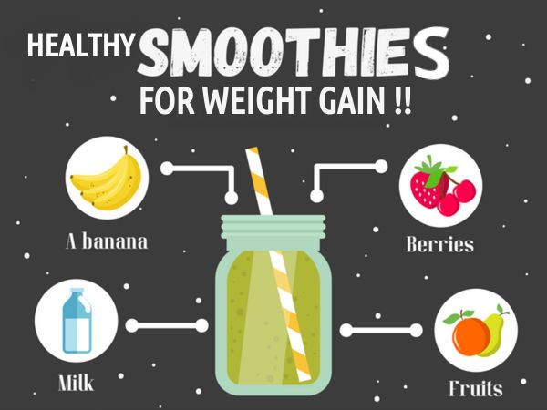Weight Gain Smoothies  Smoothies For Weight Gain Boldsky